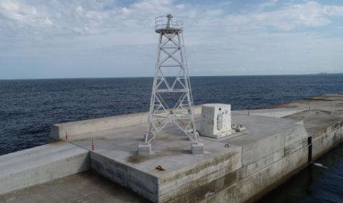 付帯工:7灯台移設完了全景