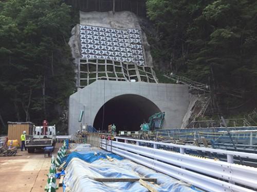 与部沢トンネル起点側